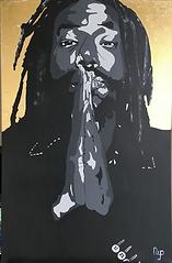 THE ARTIST NYO BUJU BANTON PAINTING