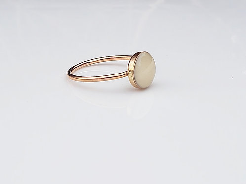 Rose gold filled 8mm ring