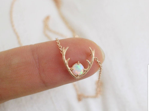 Antler drop necklace