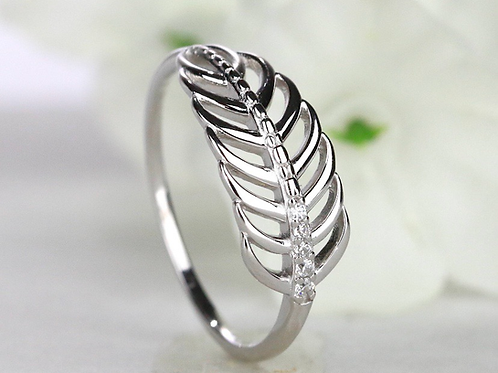 Feather Keepsake Ring
