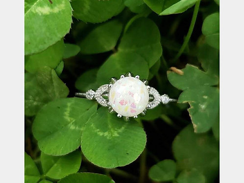 Circle filigree drop ring