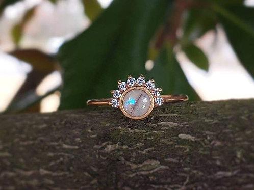 Milk drop tiara ring