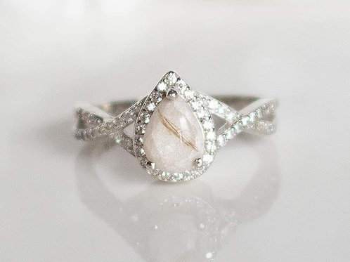 Infinity Tear Drop Ring  (With Prongs)