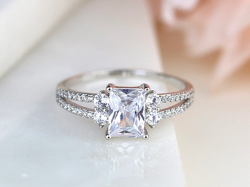 Double Emerald Cut Ring
