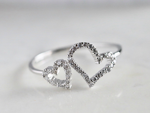 Adjustable Double Love Ring