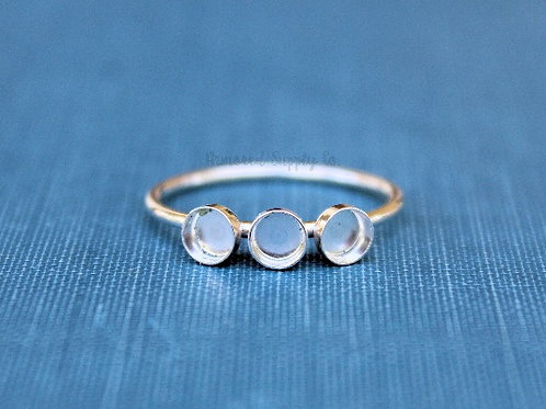 Triple stack milkdrop ring