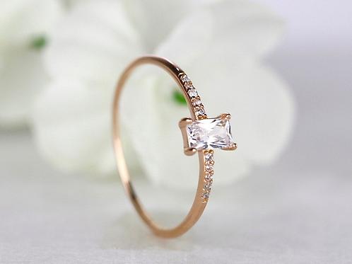 Simple Minimalist Keepsake Ring
