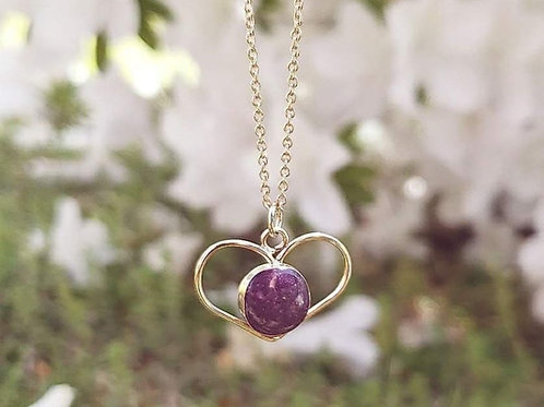 Heart Enclosed Necklace