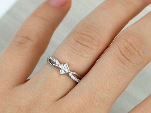 Princess Cut Keepsake Ring