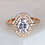 Thumbnail: Double Oval Halo Ring