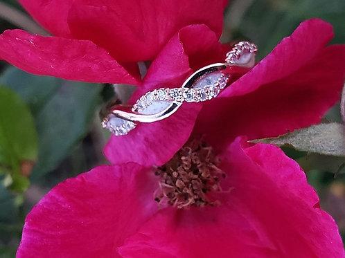 Diamond Infinity Twist ring