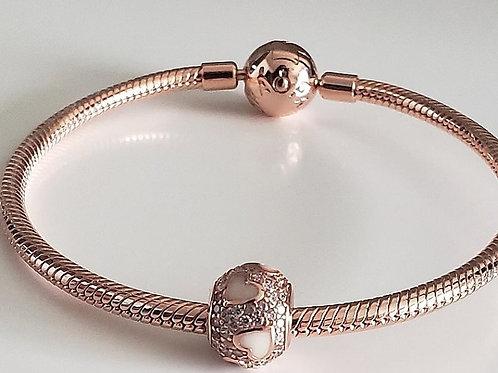 Pandora style heart bead
