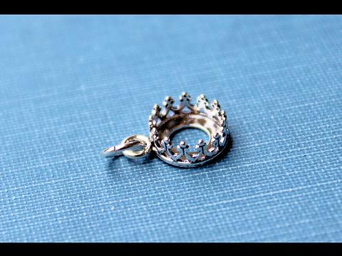 Crown milkdrop charm pendant