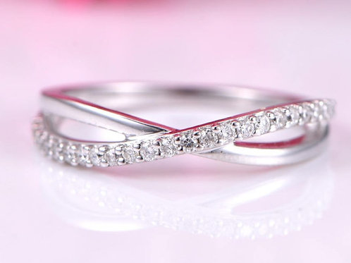 Solid Gold and Diamond Infinity Split Band