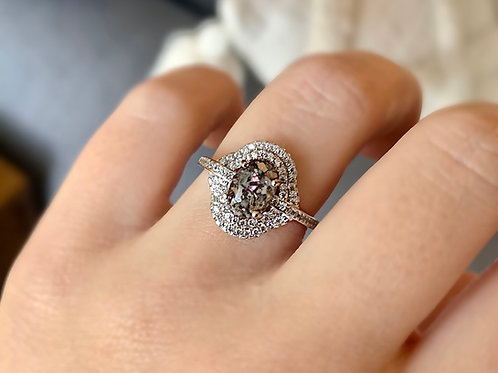 Double Oval Halo Ring