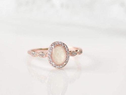 Oval Halo Keepsake ring