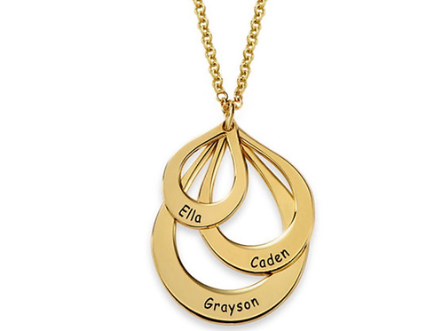 Custom Name Tear drop Necklace