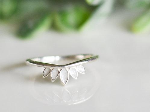 Silver Mama Bear Claw Ring