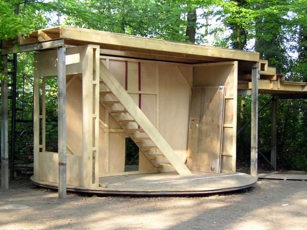 Bühnenbau der Freilichbühne