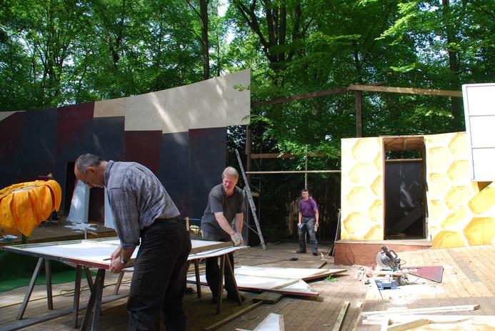 Bühnenbau der Freilichtbühne