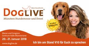 Ihr könnt meine Anna und mich kennenlernen! Wo? Auf der Dog Live Messe in Münster!