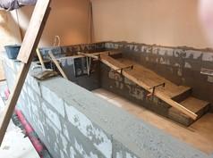 Phase 4 : Le béton est coulé dans les murs