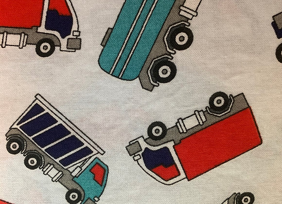 Blue and Red Trucks