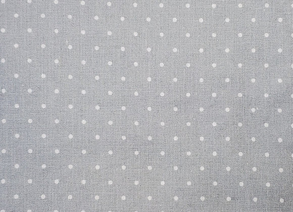 Gray with white dots