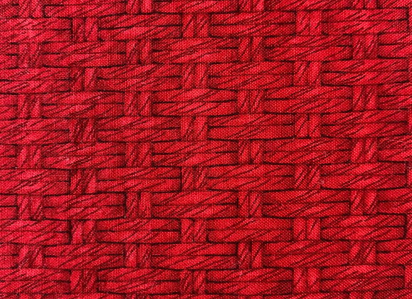 Red Basketweave