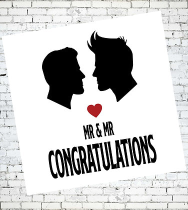 MR AND MR CONGRATULATIONS LGBT GAY CARD