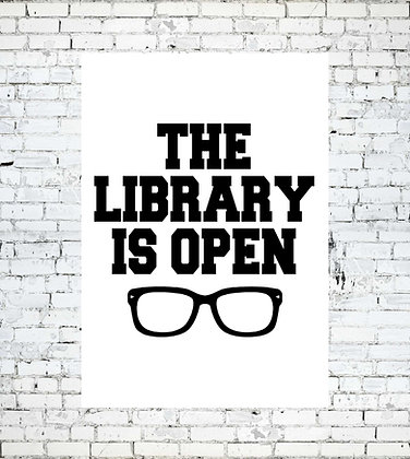 THE LIBRARY IS OPEN PRINT RUPAUL LGBT GAY LESBIAN READING