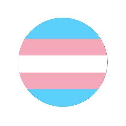 TRANSGENDER PRIDE FLAG BADGE LGBT