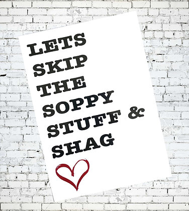LETS SKIP THE SOPPY STUFF AND SHAG GAY LESBIAN LGBT SEX RUDE GREETING CARD