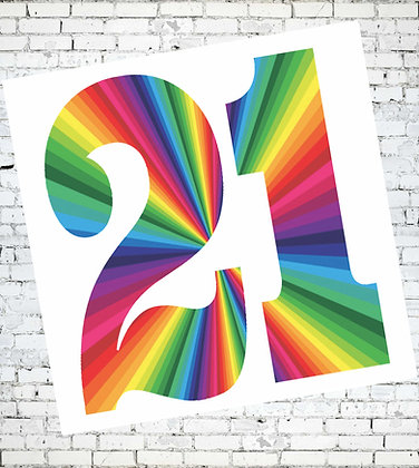 21 BIRTHDAY CARD LESBIAN GAY LGBT RAINBOW PRIDE