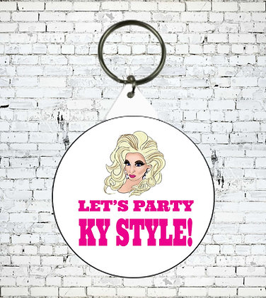 LETS PARTY KY STYLE KEYRING