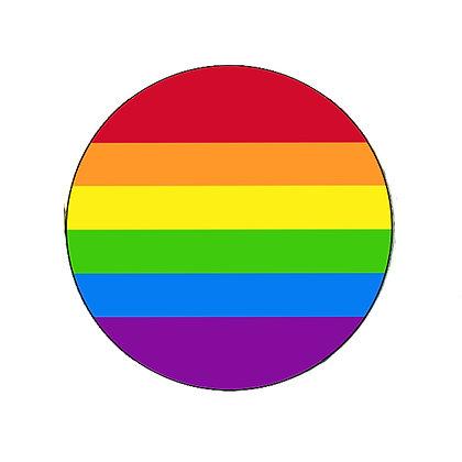 RAINBOW BADGE PRIDE FLAG LGBT GAY LESBIAN