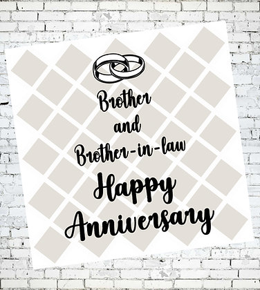 BROTHER AND BROTHER IN LAW HAPPY ANNIVERSARY CARD GAY LGBT