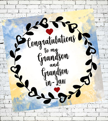CONGRATULATIONS TO GRANDSON AND GRANDSON-IN-LAW LGBT GAY