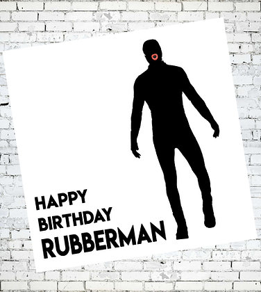 HAPPY BIRTHDAY RUBBERMAN FETISH GAY LGBT CARD