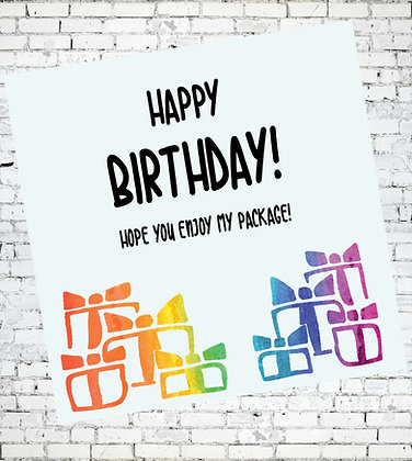 HOPE YOU ENJOY MY PACKAGE GAY LGBT BIRTHDAY CARD