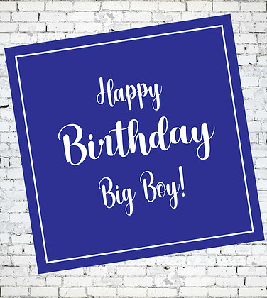 HAPPY BIRTHDAY BIG BOY LGBT GAY BIRTHDAY CARD