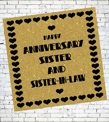 HAPPY ANNIVERSARY SISTER AND SISTER-IN-LAW LESBIAN GAY LGBT GREETING CARD