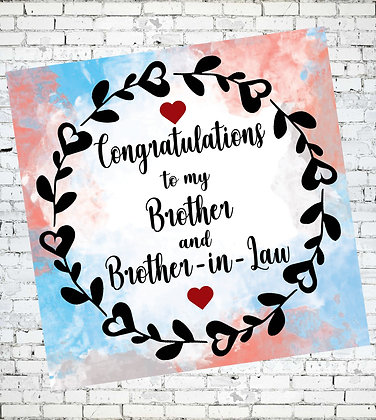 LGBT CONGRATULATIONS TO MY BROTHER AND BROTHER-IN-LAW GAY GREETING CARD