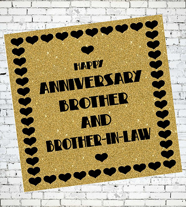 HAPPY ANNIVERSARY BROTHER AND BROTHER-IN-LAW GAY LGBT GREETING CARD