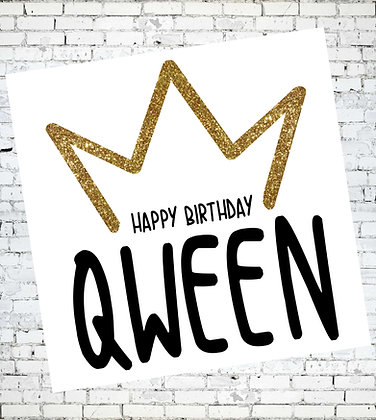 HAPPY BIRTHDAY QWEEN RUPAUL DRAG RACE GAY LESBIAN CARD