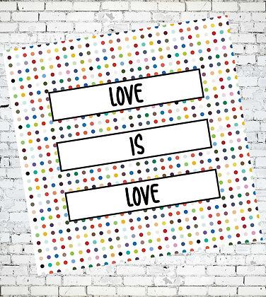LOVE IS LOVE LGBT GAY LESBIAN TRANS LGBTQIA GREETING CARD BE KIND