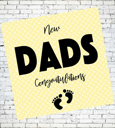 NEW DADS, CONGRATULATIONS LGBT GAY NEW BORN GREETING CARD