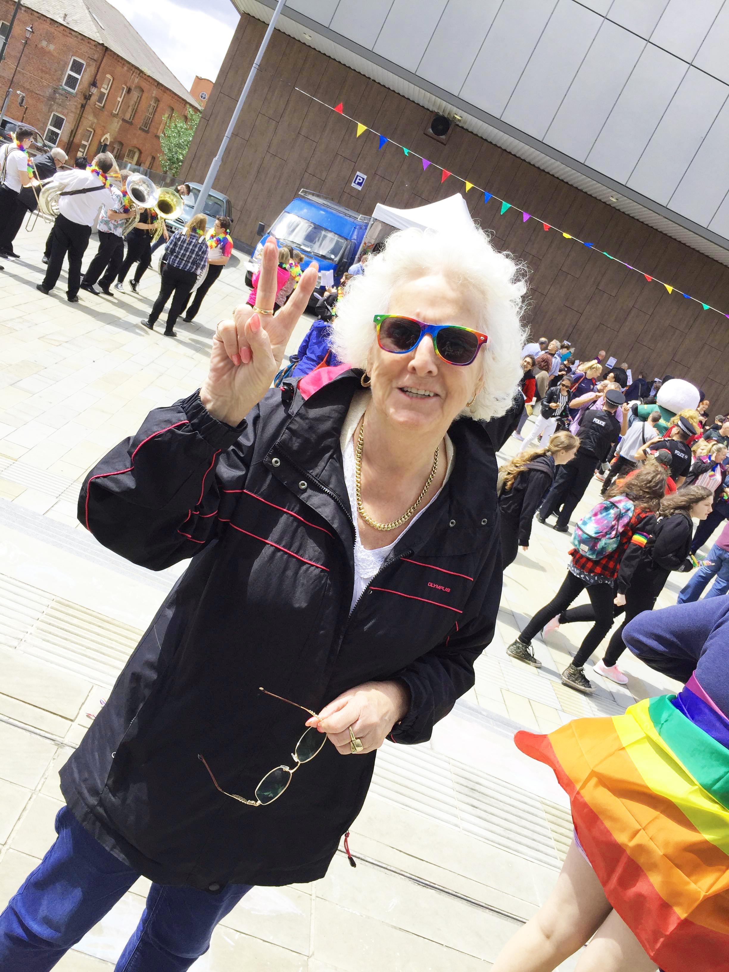 Nan at Oldham Pride Market 2018
