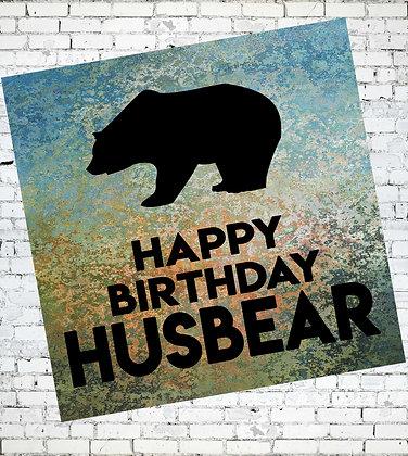 HAPPY BIRTHDAY HUSBEAR GAY BEAR LGBT CARD