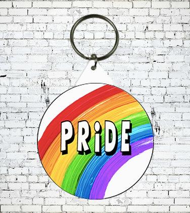 RAINBOW PRIDE KEYRING LGBT GAY LESBIAN LGBT